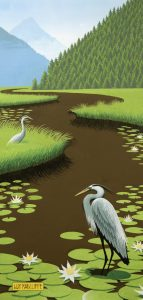 Prints of Blue Heron  - Prints of this painting are for sale on my store on Fine Art America.