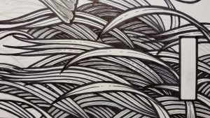 Close up detail of the eel grass.